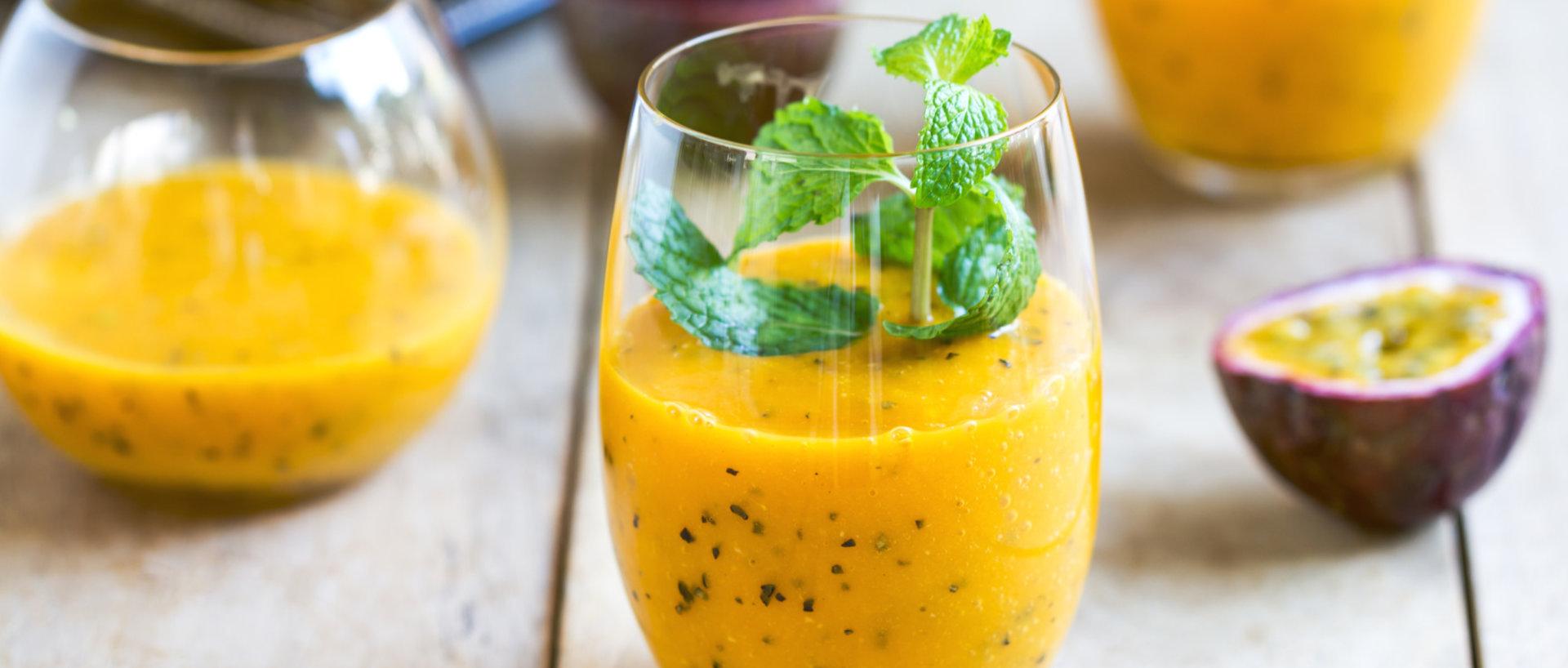 mango hyldeblomst passionsfrugt drik
